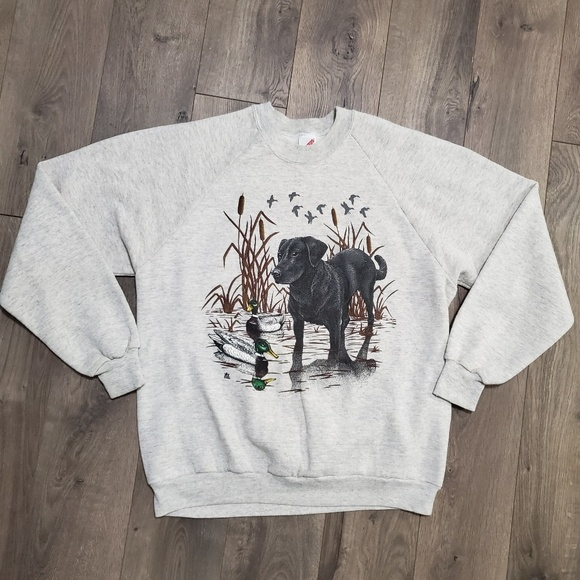 Vintage Other - Vintage Lab Retriever & Duck Graphic Crewneck